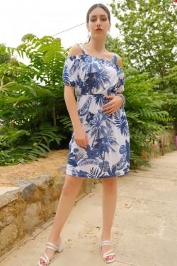 Lacibeyaz Askılı Lastikli Elbise