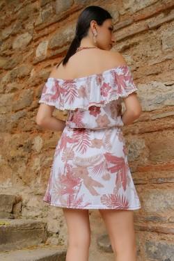 Beyazvizon Kayık Yaka Elbise