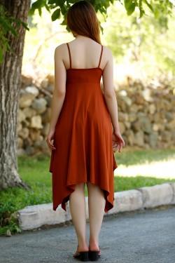 Tarçın Asimetrik Elbise