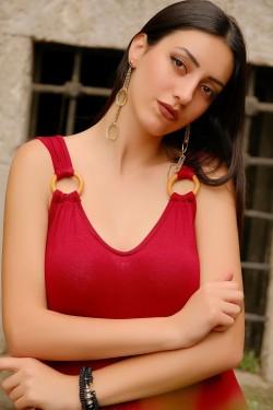 Bordo Halkalı Elbise