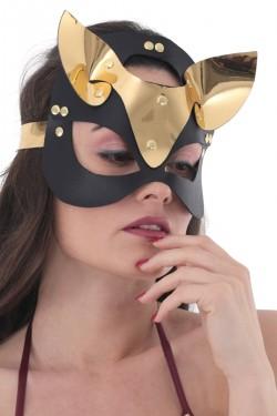 Mite Love Gold Deri Kedi Kız Fantazi Maske