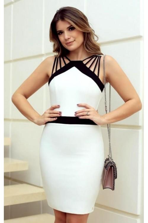 123aeb4c7b07d Omuz Detay Beyaz Mini Elbise, indirimleri kaçırma!