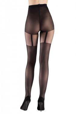Mite Love Külotlu Çorap Basic Suspender Siyah