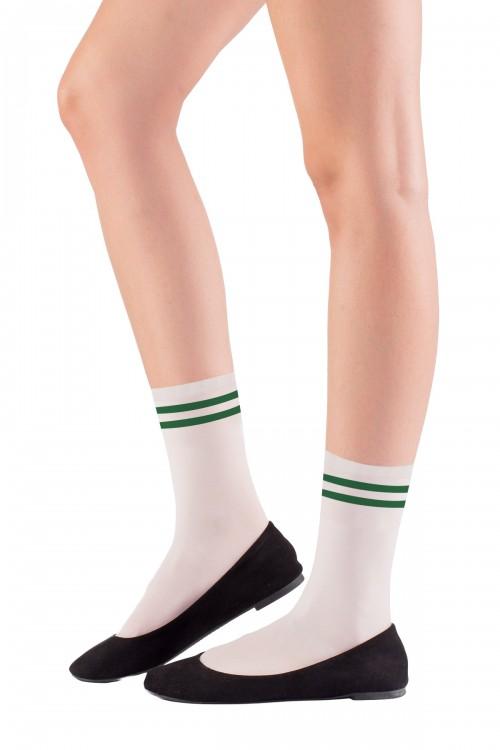 Soket Çorap Yeşil Çizgili