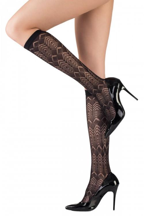 Dizaltı Çorap Siyah Dinamik Desen 20 Denye