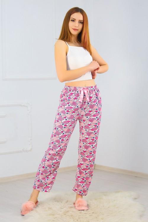İçi Tüylü Ekrupembe Pijama Altı