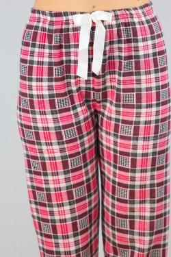 İçi Tüylü Pijama Altı Karelipembe - 4482.1300.