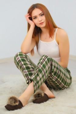 Polar Pijama Altı Yeşilbej - 4570.919.
