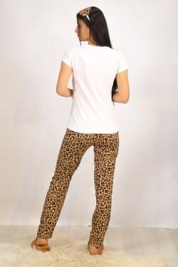 Baskılı Pijama Takımı Beyaz - 4700.102.