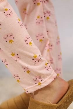Baskılı Pijama Takımı Gri - 4708.102.