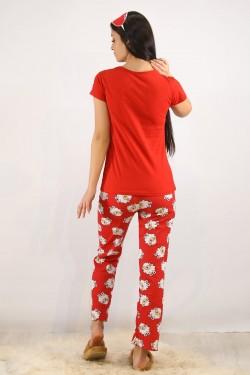 Baskılı Pijama Takımı Kırmızı - 4706.102.