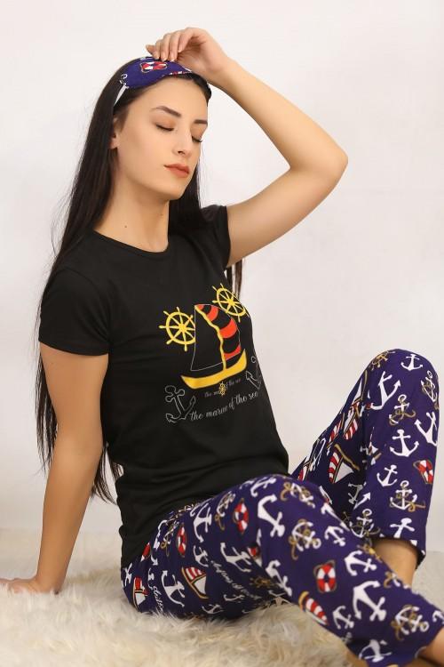 Siyahlaci Baskılı Pijama Takımı