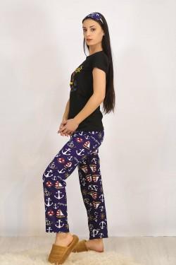 Baskılı Pijama Takımı Siyah - 4705.102.