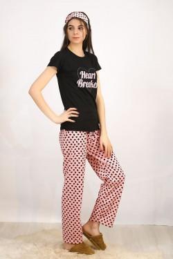 Baskılı Pijama Takımı Siyah - 4712.102.