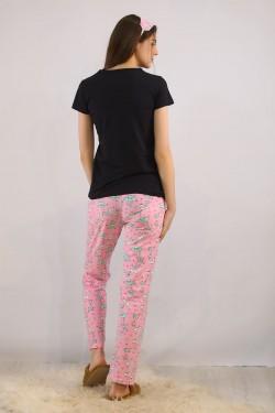Baskılı Pijama Takımı Siyah - 4713.102.