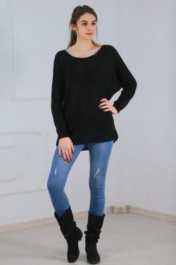 Simli Selanik Triko Siyah - 4607.344.