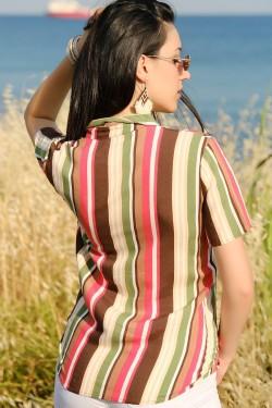 Yazlık Gömlek Kahveyeşil - 4284.128.