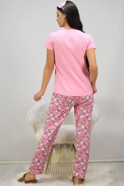 Baskılı Pijama Takımı Pembe - 21121.1059.