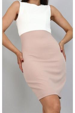 Krem Ceket & Mini Elbise Takım