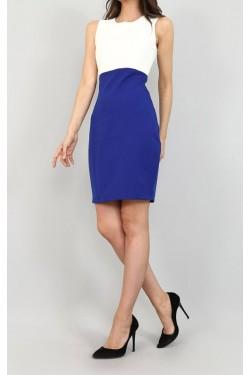 Mavi Ceket & Mini Elbise Takım