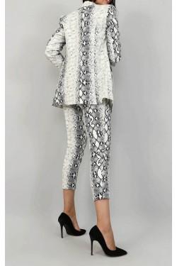 Yılan Desen Pantolon & Ceket Takım