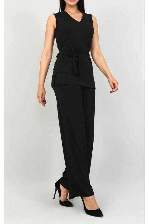 Siyah Bluz & Siyah Pantolon Takım