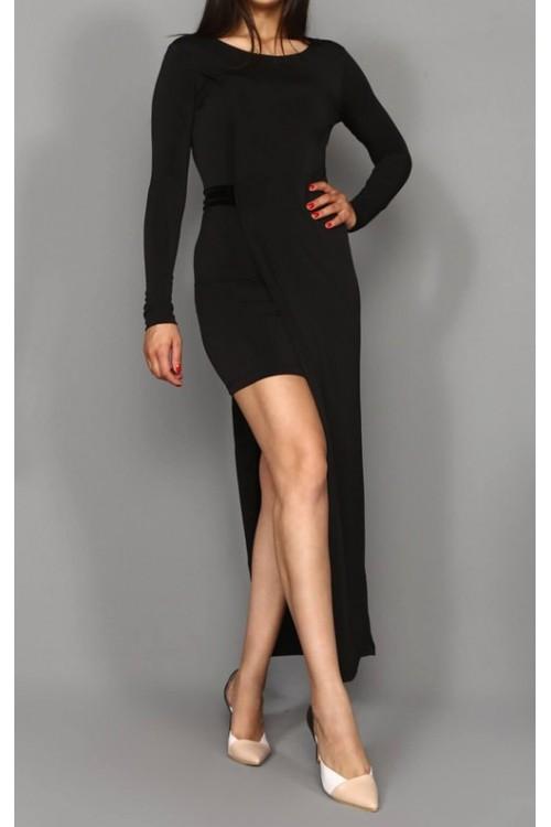 İçi Mini Tasarım Siyah Elbise
