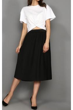 Bel Detay Beyaz Tişört