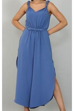 Askılı Mavi Renk Tulum