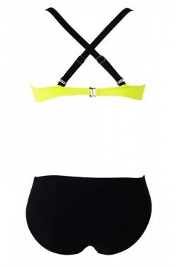 Sarı Siyah Bikini Tek Altı