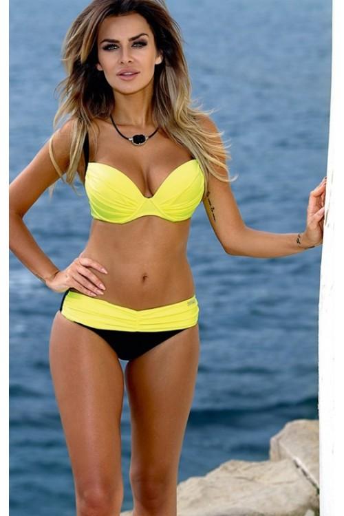 Sarı Siyah Bikini Altı