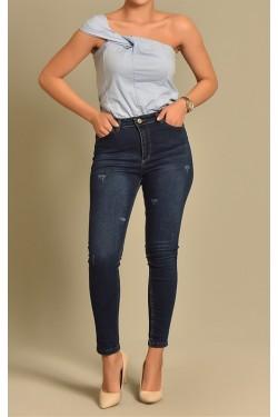 Skinny Lacivert Jean Pantolon