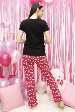 Siyah Kadın Pijama Takımı